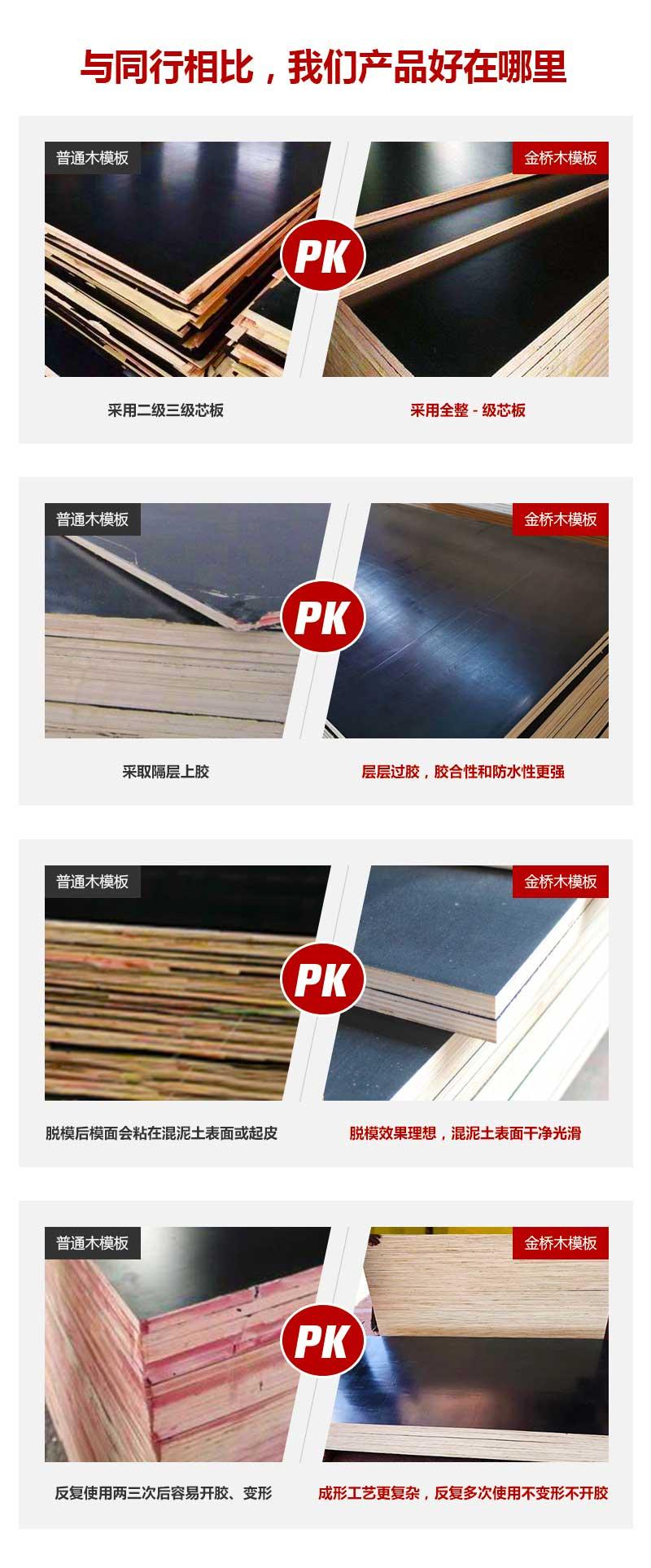 建筑清水模板金桥板业产品质量