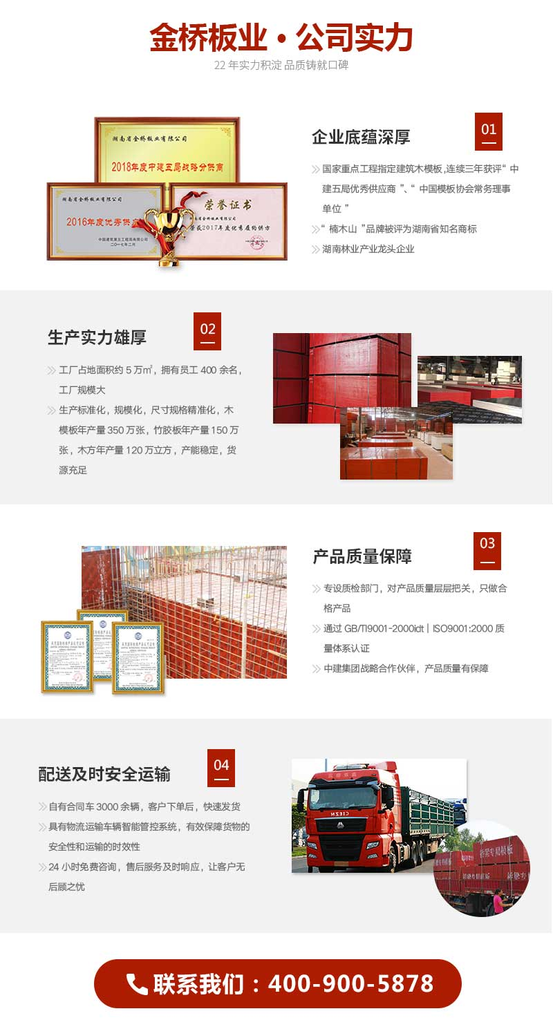 厚帘竹胶板1.22*2.44*1.5金桥板业公司实力