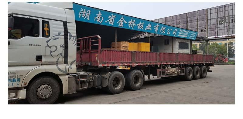 金桥板业覆膜模板工厂装车发货实拍