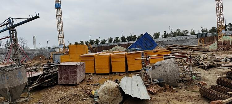 湘潭长房万楼公馆项目使用金桥板业建筑木模板
