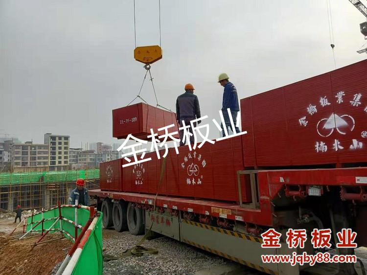 湖南郴州永升建筑有限公司房建项目使用金桥竹胶板